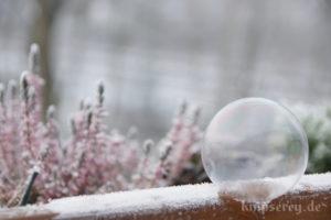 Seifenblase gefrieren lassen