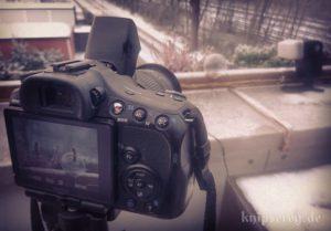 Kamera-Aufbau, entfesselter Blitz