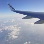 Auf dem Flug von Bremen nach Dublin
